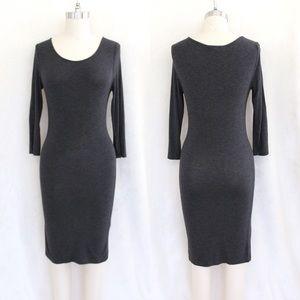 Forever 21 Gray 3/4 Sleeve Dress